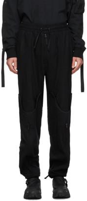 Blackmerle Black Wool Convertible Trousers