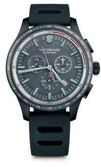 Victorinox Alliance Sport Stainless Steel Rubber Strap Watch