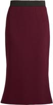 Dolce & Gabbana Wool-crepe midi skirt