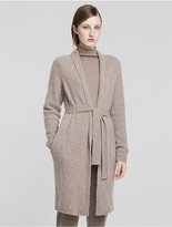 Calvin Klein Collection Cashmere Bouclè Rib Wrap Cardigan