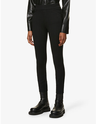 Spanx The Perfect Black Pant high-rise rayon-blend leggings