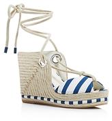 Salvatore Ferragamo Espadrille Platform Wedge Sandals