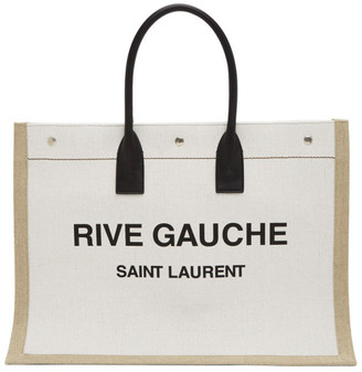 Saint Laurent Off-White Rive Gauche Tote