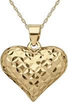 JCPenney FINE JEWELRY Infinite Gold 14K Yellow Gold Diamond-Cut Puff Pendant Necklace