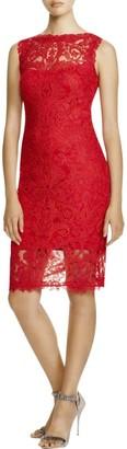 Tadashi Shoji Women's Corded Lace-Illusion Neckline-Slvls Dress
