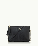GiGi New York Hailey Crossbody Black Genuine Python