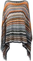 Missoni zig-zag knit poncho