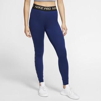 Nike Womens Metallic Tights Pro Warm