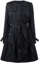 Moschino pleated trench coat - women - Cotton/Acetate/Rayon/other fibers - 46