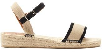 Castaner Sira Cotton Espadrille Sandals - Black Beige