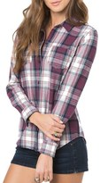 O'Neill Women's 'Freestyle' Plaid Button Front Top