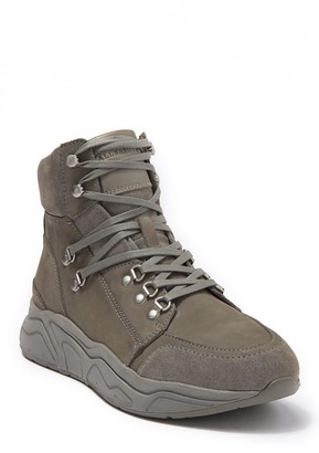 AllSaints Brand High Top Leather Lace-Up Boot
