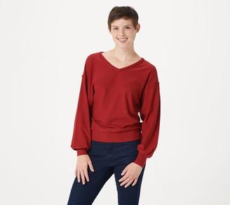 NYDJ V-Neck Dolman Sleeve Sweater