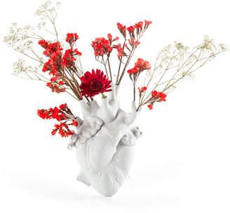 "Seletti Love In Bloom"" Porcelain Heart Vase"