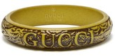 Gucci - Logo And Snake Carved Resin Bangle - Mens - Green