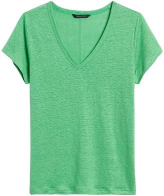 Banana Republic Linen V-Neck T-Shirt