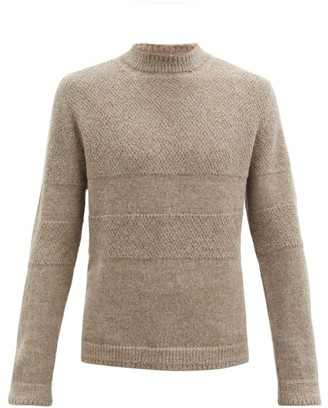 Inis Meáin Striped Alpaca Sweater - Dark Beige