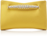 Jimmy Choo Venus Crystal-Embellished Satin Clutch