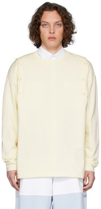 J.W.Anderson Yellow Shoulder Placket Long Sleeve T-Shirt