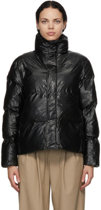 Rains Black Padded Boxy Jacket