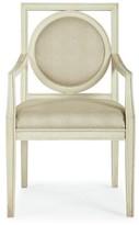 Bernhardt Salon Upholstered Arm Chair in Alabaster (Set of 2
