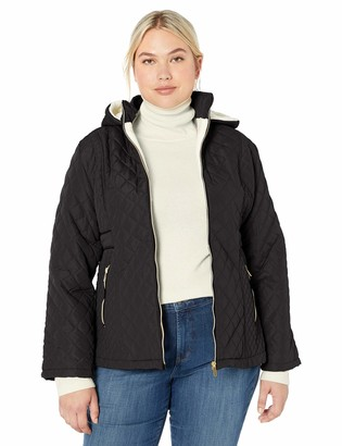 Big Chill Women's Plus Size Diamond Quilted Hooded Jacket