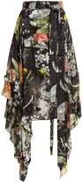 Preen by Thornton Bregazzi Alanis dandelion-print silk-devoré skirt