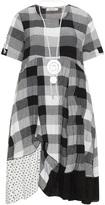 zedd plus Plus Size Checked print dress with necklace