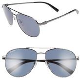 Salvatore Ferragamo Men's Gancio 60Mm Aviator Sunglasses - Dark Gunmetal