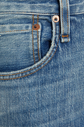 Rag & Bone Distressed Faded High-rise Straight-leg Jeans