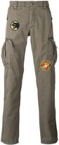 History Repeats - badge patch cargo trousers - men - Cotton - 46