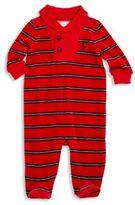 Ralph Lauren Baby's Striped Shawl Collar Footie