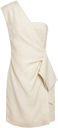 Victoria Victoria Beckham Victoria, Victoria Beckham One-shoulder Draped Slub Mini Dress