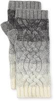 Neiman Marcus Ombre Fingerless Cashmere Gloves, Gray