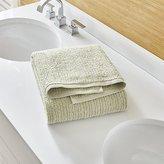 Crate & Barrel Ribbed Sage Green Bath Towel
