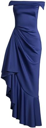 Black Halo Nava Ruffle Gown