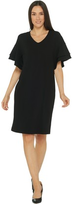 Belle by Kim Gravel Flutter Sleeve Dress