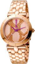Just Cavalli 34mm Animal Devore Bracelet Watch, Rose Golden