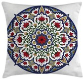 """Moroccan Mandala Lotus Ancient Square Pillow Cover East Urban Home Size: 16"""" x 16"""""""