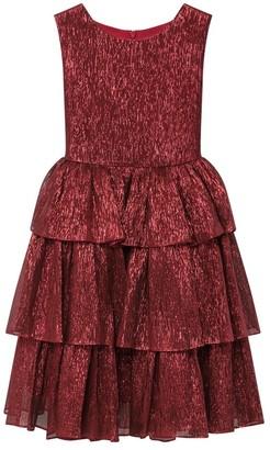 Oscar de la Renta Lame Mousseline Dress