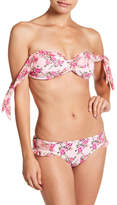 Betsey Johnson Molded Floral Twist Bikini Top