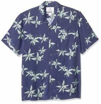 28 Palms Standard-fit Vintage Washed 100% Rayon Hawaiian Shirt Button
