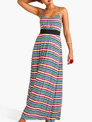 Yumi Mexican Jersey Stripe Maxi Dress, Multi