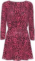Rixo Kyla leopard-print silk minidress