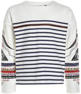 Ikks COULEUR BLOCK Long sleeved top blanc cassé