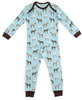BedHead Year of the Horse Pajama Shirt & Pants, Light Blue, Size 3-24 Months