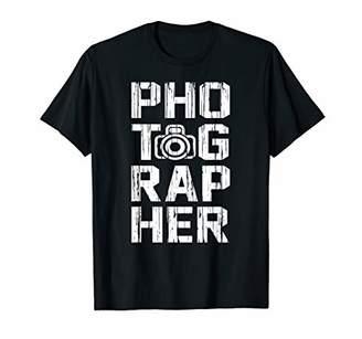 Photographer Love Photography DSLR Camera Retro Grunge Gift T-Shirt
