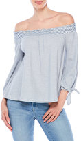 Jessica Simpson Off-The-shoulder Stripe Top