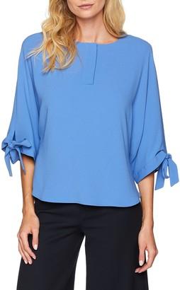 Rene Lezard Women's H024S7454 Blouse - Blue (Ocean Blue 532) - 34 EU