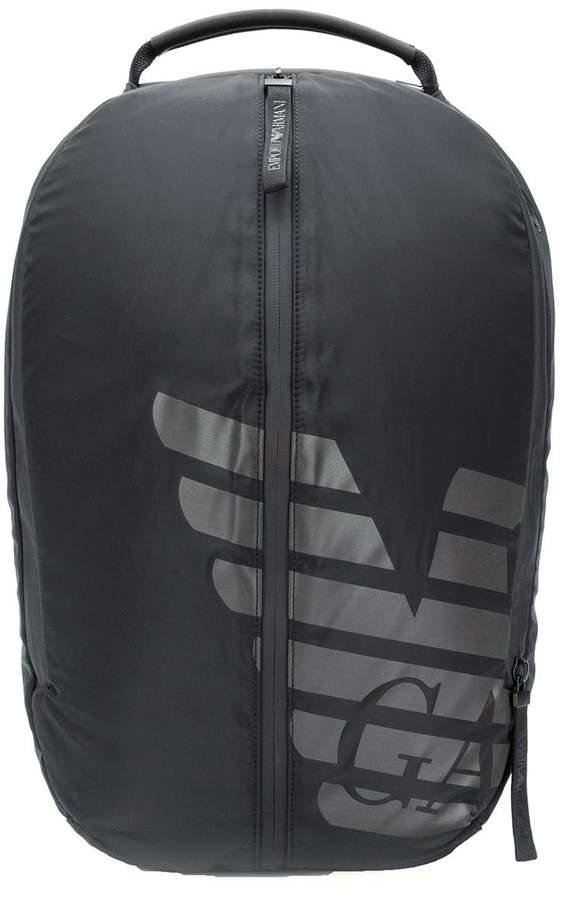Emporio Armani nylon logo backpack